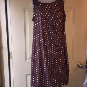 Talbots Sleeveless Polka Dot Dress 1XP